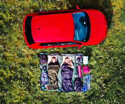 Campen im Auto