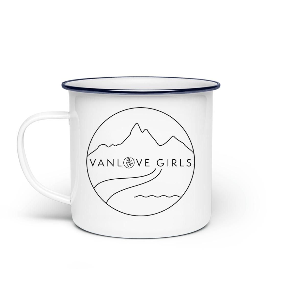Happy VanLove Girl Tasse - Emaille Tasse-3